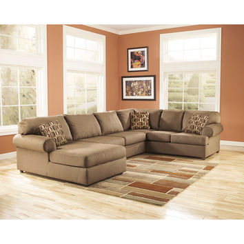 Cowan Sectional in Mocha Fabric