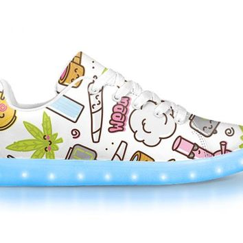 Clam Baked - APP Controlled Low Top LED Shoes