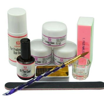 DCCKV2S Coscelia Nail Art Acrylic Nail Powder Liquid Brush Manicure Sets