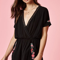 Kendall & Kylie Short Sleeve Embroidered Romper at PacSun.com
