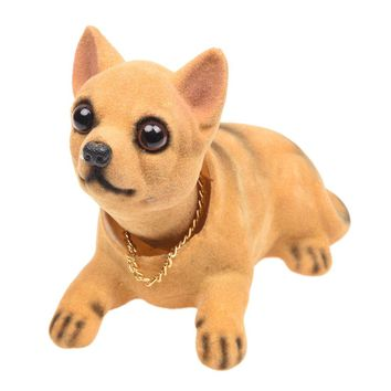 Auto Vehicle Chihuahua Nodding Bobblehead Dashboard Dog Decor Toy