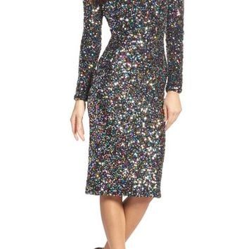 Dress the Population Emery Ombré Sequin Body-Con Dress | Nordstrom