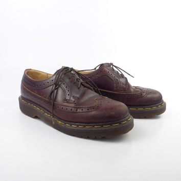 Dr Martens Shoes Oxfords 1990 Doc Brown Leather Made in England UK size 5 US Women's size 7