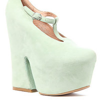 Jeffrey Campbell The Teez Shoe in Mint Suede : Karmaloop.com - Global Concrete Culture