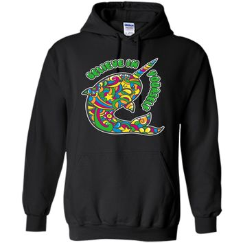Narwhal T-shirt | Believe in Yourself Shirt | Rainbow Art