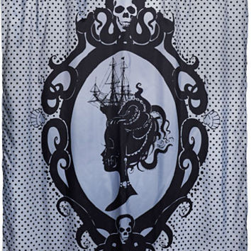 Mistress of the Sea Cameo Shower Curtain - PLASTICLAND