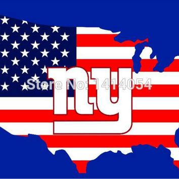 American map New York Giants  flag 150X90CM NFL 3X5FT Banner 100D Polyester grommets custom .free shipping