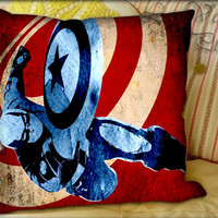 Captain American Quote - Pillow Cover and Pillow Case.