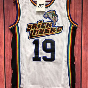 Aaliyah #19 Bricklayers 1996 MTV Rock N Jock Basketball Stitched Jersey WHITE S-3XL