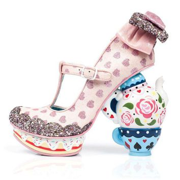 DCCKLP2 Irregular Choice Alice in Wonderland Collection: My Cup of Tea Pink Heels