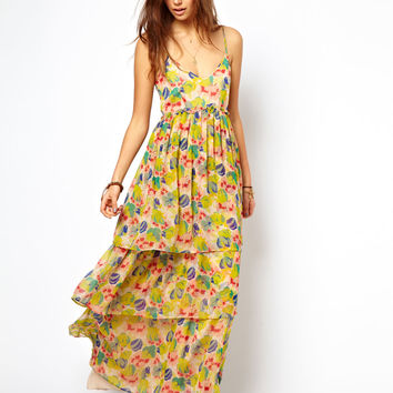 ASOS Maxi Dress In Floral Print