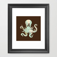All Around The World Framed Art Print | Print Shop