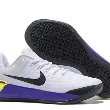 1abb40950a86 HCX N275 Nike Zoom Kobe 12 A.D EP Actual Combat Basketball Shoes White  Purple Black