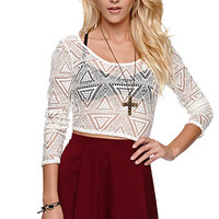 LA Hearts Tribal Mesh Top at PacSun.com