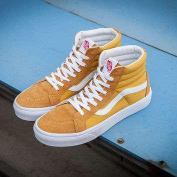 PEAPON Vans Vault Og Sk-Hi Lx Yellow High Top Sneaker Flats Shoes Canvas Sport Shoes