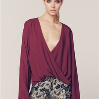 Blue Life Haley Top in Bordeaux | Boutique To You