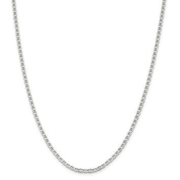 Sterling Silver 3.1mm Polished Flat Anchor Chain