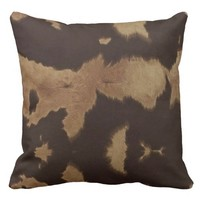 """Cow Print"" THROW PILLOW"