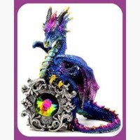 Crystal Dragon Statue