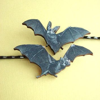 vampire bat hairpin - Halloween bobby pin set hair accessories hair grips