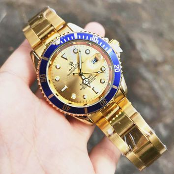 Rolex Classic New Fashion Men Movement Watch Personality Business Wrist Watch Watches Golden