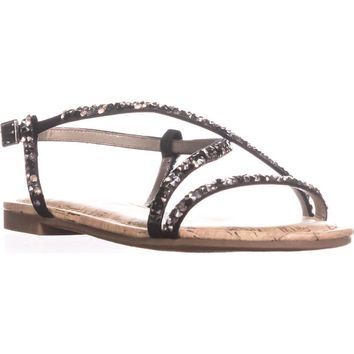 Circus by Sam Edelman Hilary Flat Sandals, Black, 5 US / 35 EU