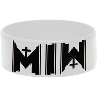 Motionless In White Men's Free Sick Rubber Bracelet White
