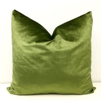 Green Velvet Pillow Cover Velvet Pillows Green Cushion Velvet Throw Pillow Velvet Decorative Pillow Green PillowsVelvet Cushion Covers 18X18