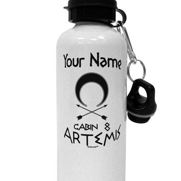 Personalized Cabin 8 Artemis Aluminum 600ml Water Bottle by TooLoud