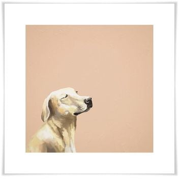Best Friend - Peaceful Yellow Lab Wall Art