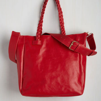 Nautical Tote With a Twist Bag by ModCloth