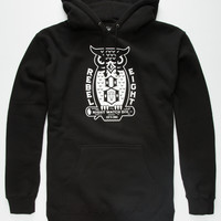 Rebel8 Night Watch Mens Hoodie Black  In Sizes