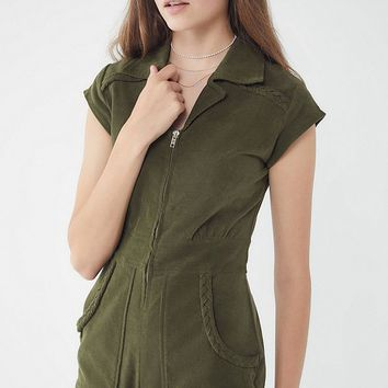 Show Me Your Mumu Outlaw Corduroy Romper   Urban Outfitters