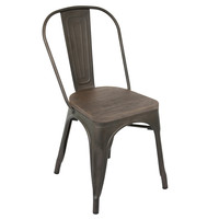 Oregon Industrial Look Dining Chair Antique/Espresso (set of 2)