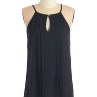 Mid-length Spaghetti Straps Style a Minute Top in Black