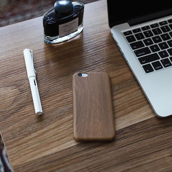 Wood and Leather iPhone Case