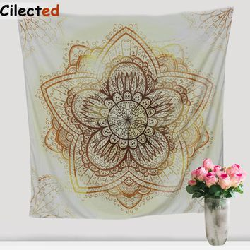 New Hippie Printed Indian Mandala Tapestry Wall Hanging Chiffon Boho Thin Beach Throw Towel Yoga Mat Blanket Home Decor 145Cm