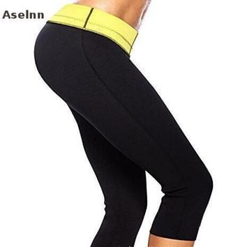Aselnn Hot Sale Super Women Hot Shapers Control Panties Pant Stretch Neoprene Slimming Body Shaper Tight Pants
