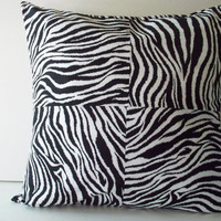 "Decorative Throw Pillow Cover - 18"" -  Zebra print - Home Decor - Matching Coasters Available"