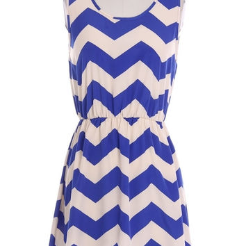 Royal Chevron Dress