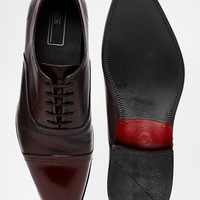 ASOS Oxford Shoes in Leather With Toe Cap