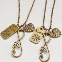 bff gift, best friend forever necklace, sister gift, infinity necklace, friendship, friend forever, eternity gift, christmas, love gift