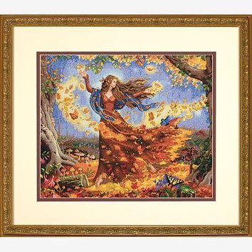 Top Quality Popular Lovely Counted Cross Stitch Kit Fall Fairy dim 35262 autumn fairy goddess