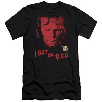 Hellboy Ii - I Bet On Red Premium Canvas Adult Slim Fit 30/1 Shirt Officially Licensed T-Shirt