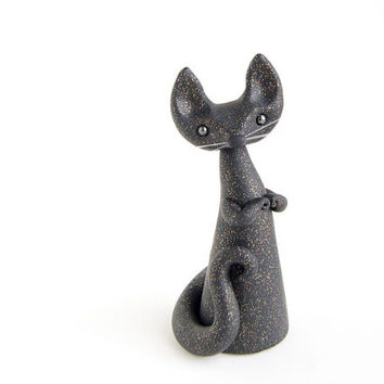 Black Cat - Glittery Night Sky Cat by Bonjour Poupette