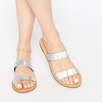 New Look Holographic Two Strap Sandal