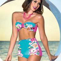 Floral Pin Up Swimsuit