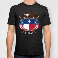 Texas flag and eagle crest - original concept and design by BruceStanfieldArtist T-shirt by Bruce Stanfield