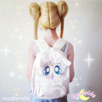 Sailor Moon Artemis Fluffy Plush Backpack SP140506