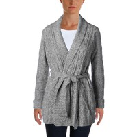 NYDJ Womens Petites Knit Marled Cardigan Sweater